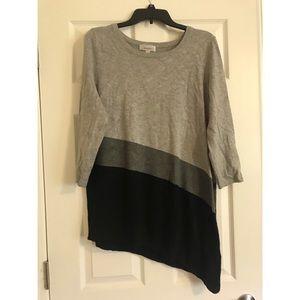 Asymmetrical tunic sweater